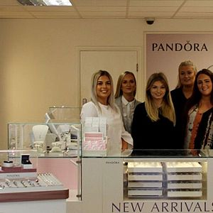 The sales team at one of the Grace & Co group Pandora concept stores
